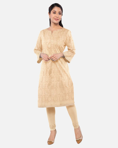 Gold Silk Brocade Suit Fabric Set