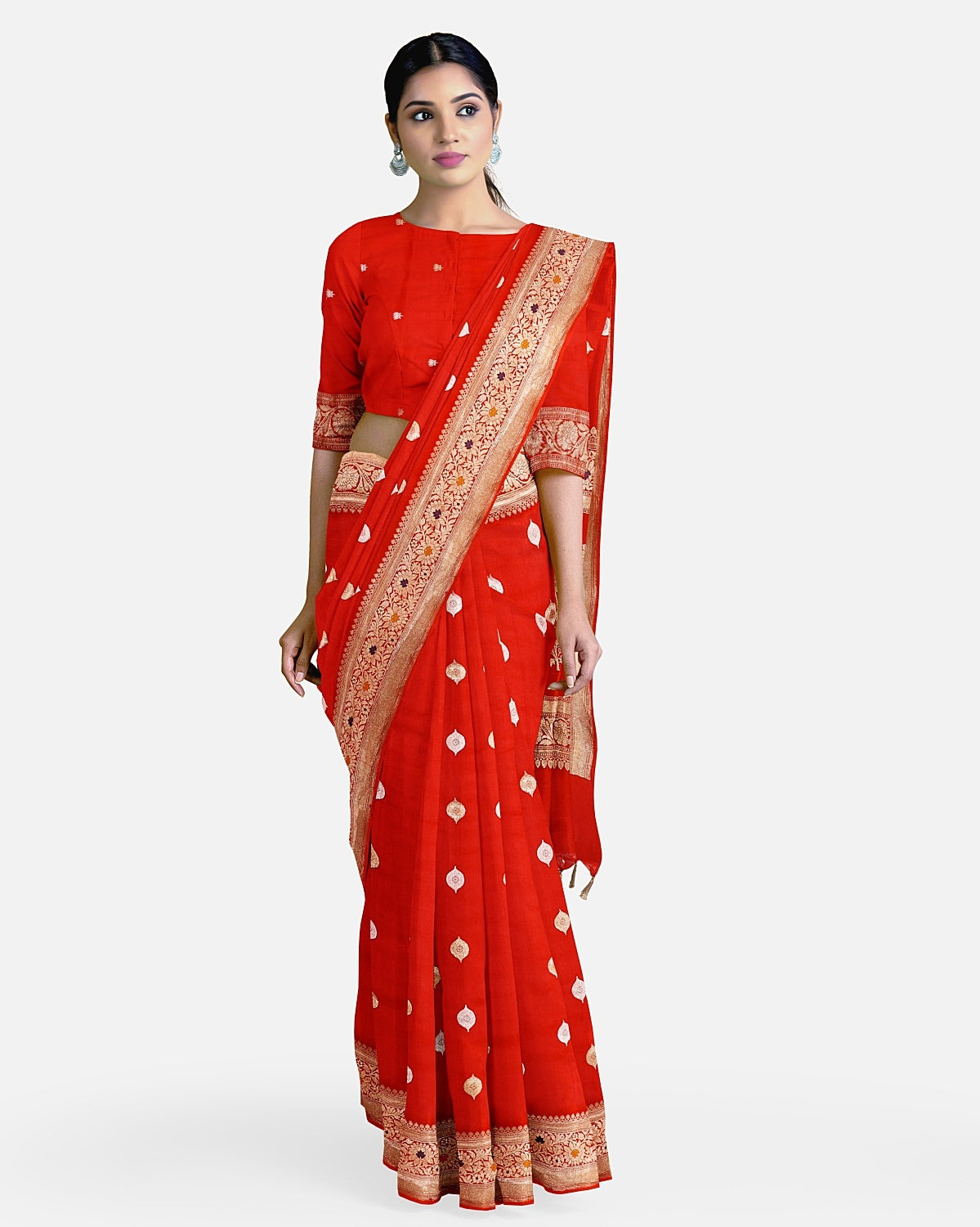 Chilly Red Soft Silk Saree