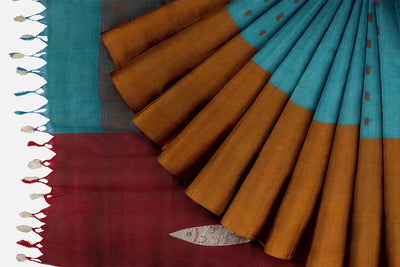 Multicolour Cotton Fish Applique Saree