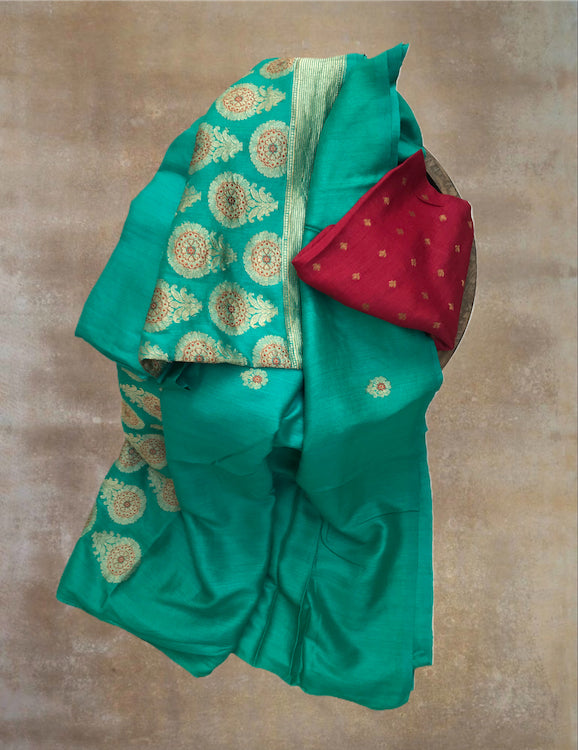 Peacock Matka Georgette Saree