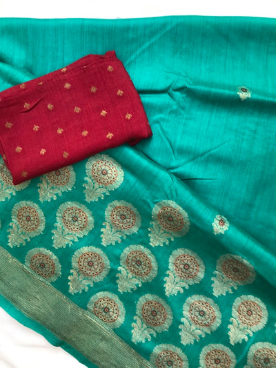 Peacock Silk Matka Saree