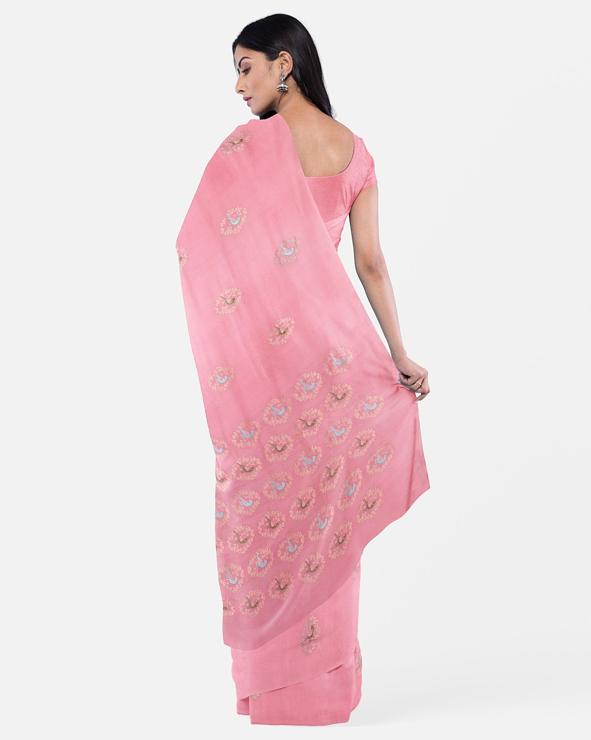 Cherry Blossom Pink Soft Silk Saree
