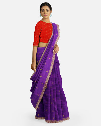 Purple Soft Silk Saree