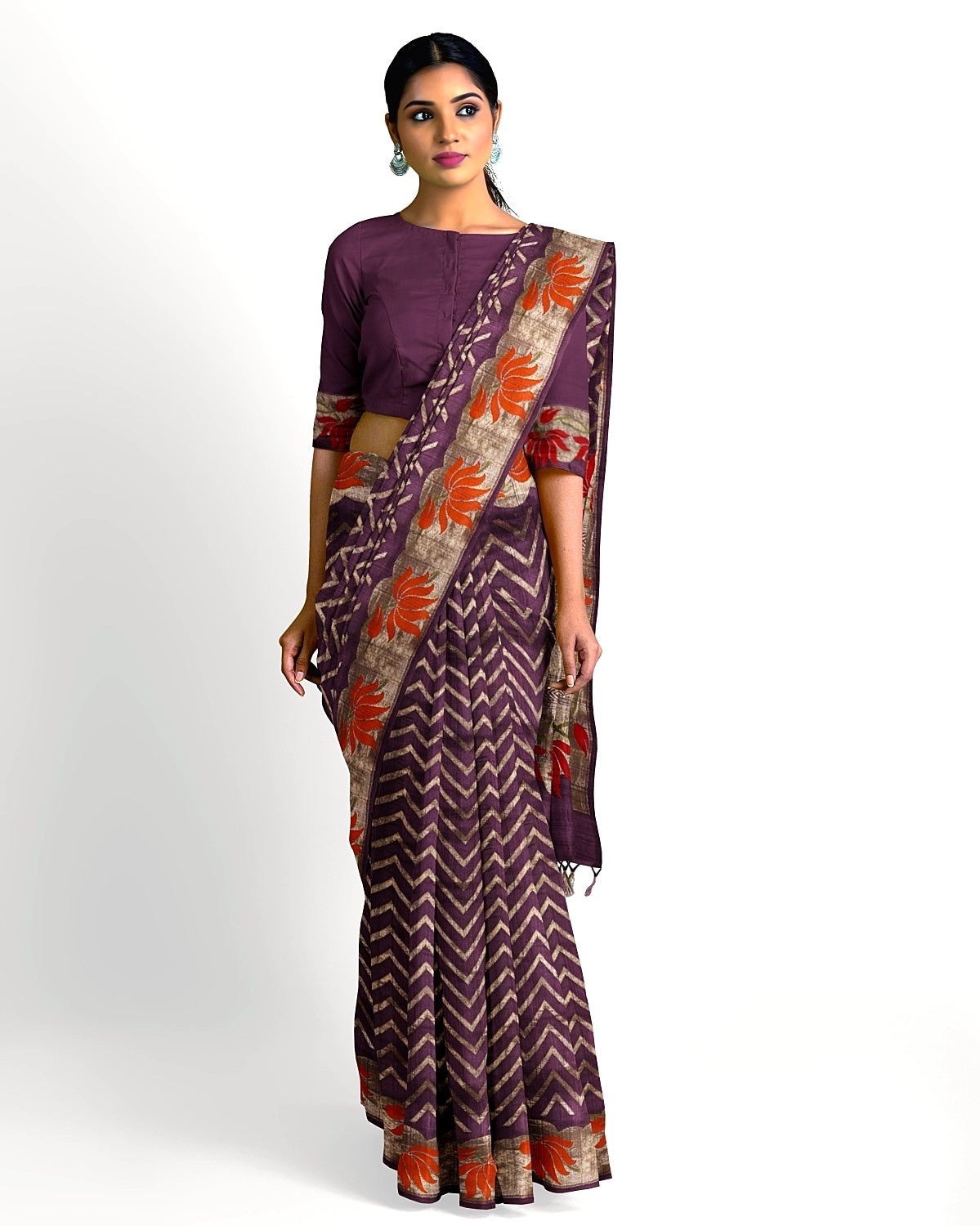 Purple Paithani Tussar Georgette Saree