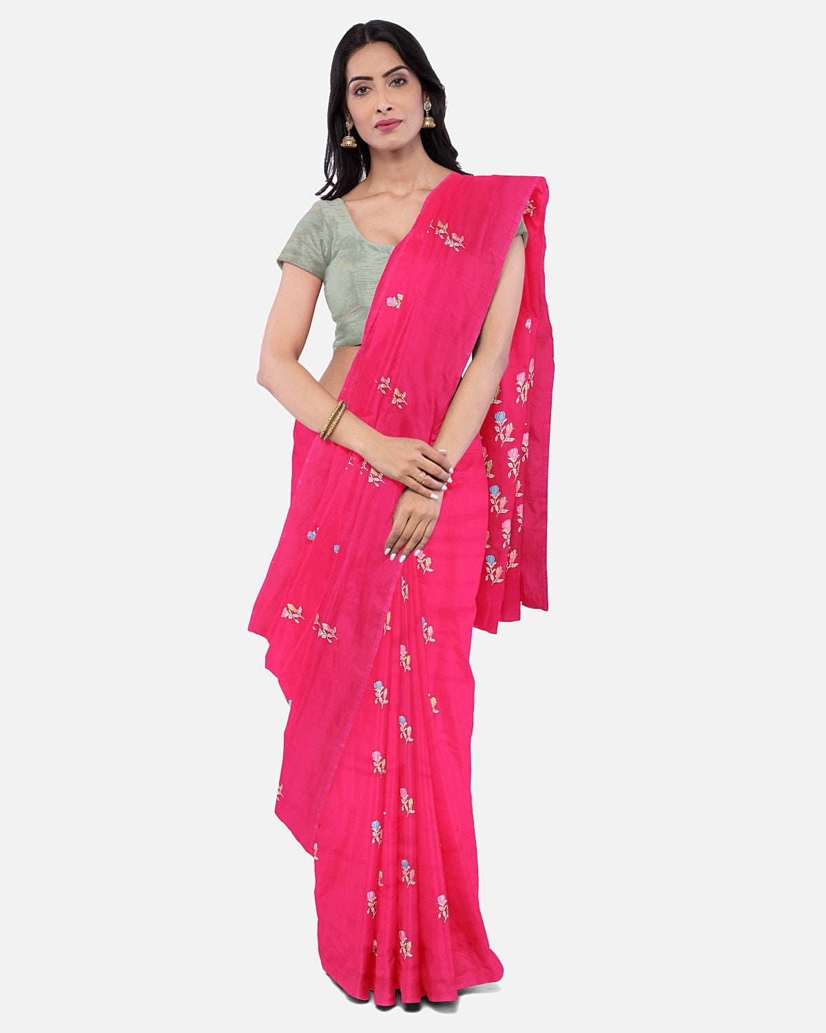 Sweet Pea Pink Soft Silk Saree