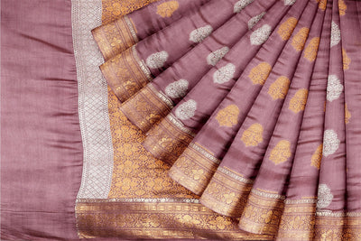 Pink Dupion Silk Saree