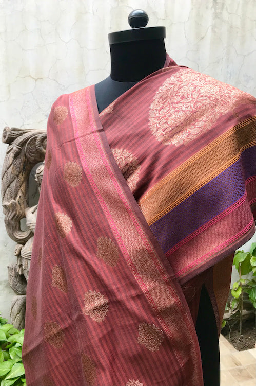 Brick Rust Cotton Matka Saree