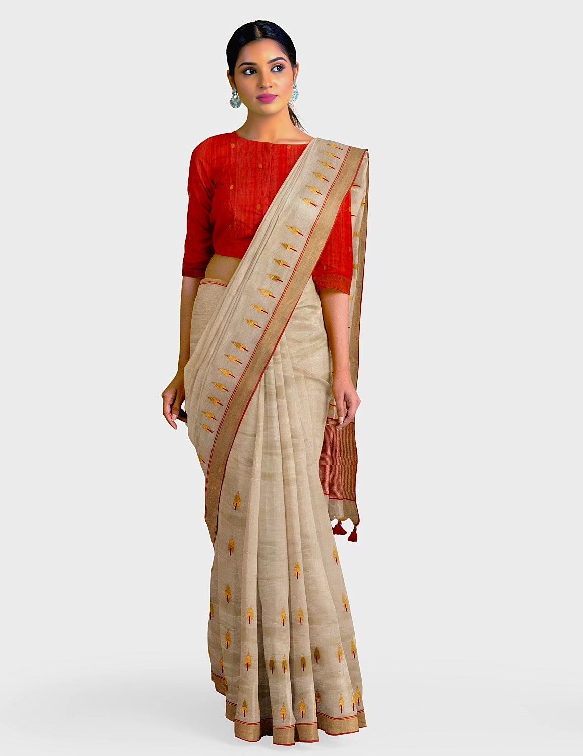 Champagne Gold Tissue Saree