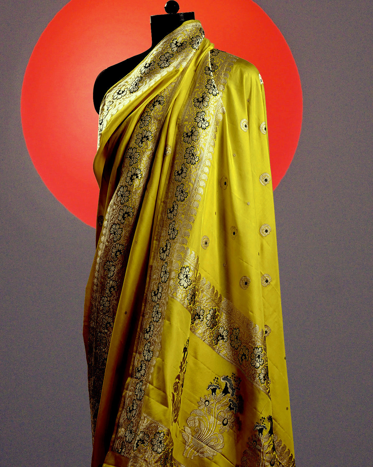 Yellow Chandbala Soft Silk Saree