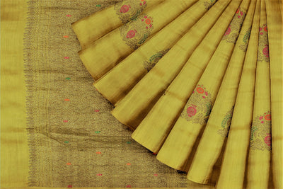 Yellow Matka Georgette Saree