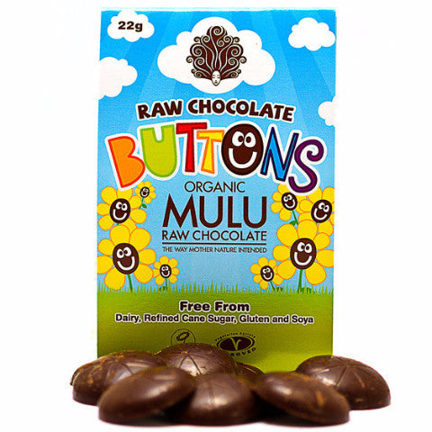 Mulu Raw Dairy Free Chocolate Buttons 22g Organic