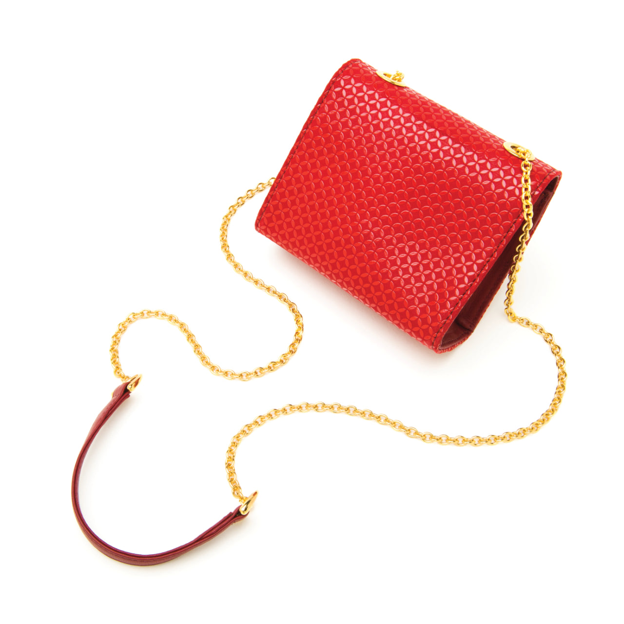 INDEN CROSS-BODY BAG Red x Red Seven Treasures