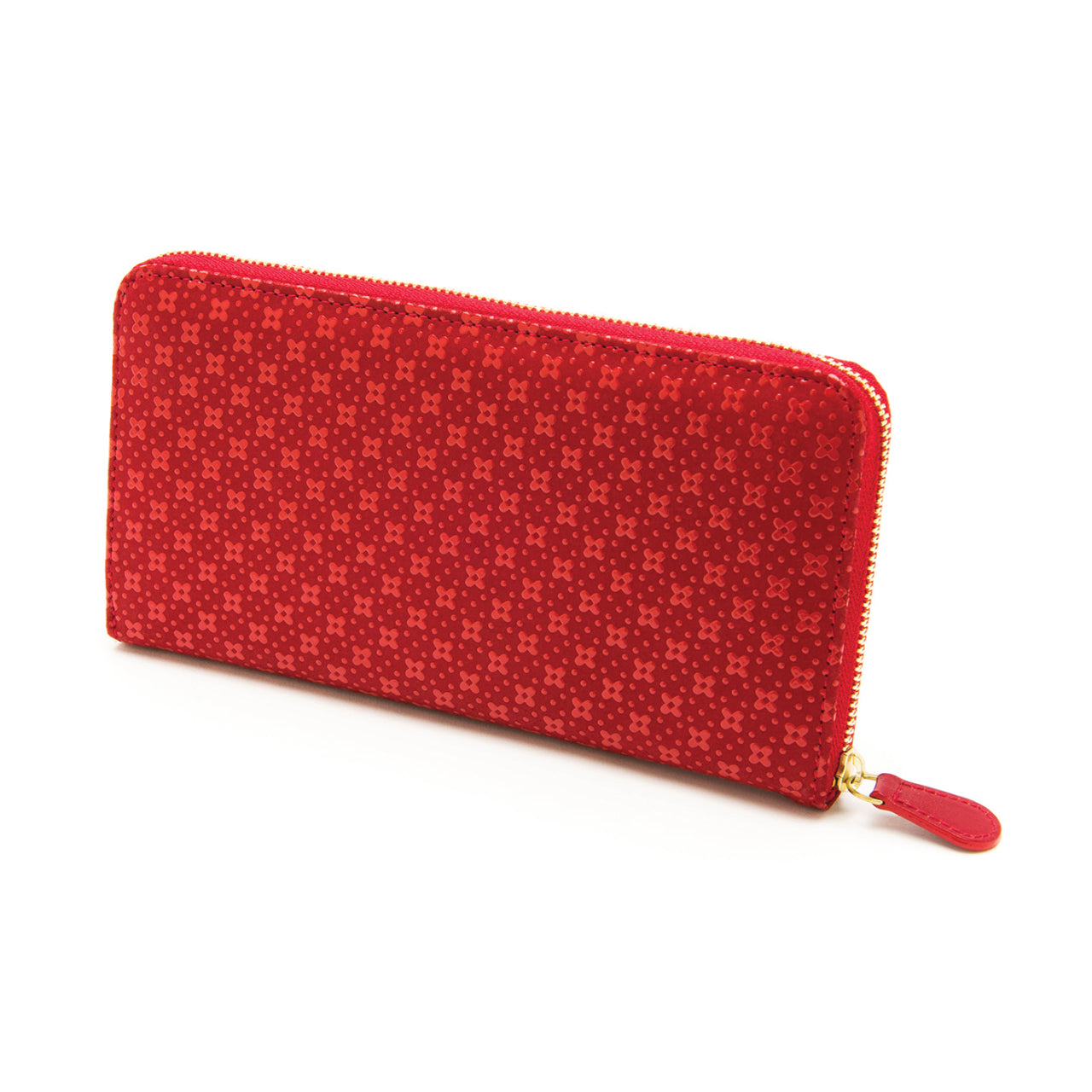 INDEN ZIPPED LONG WALLET R x R Flower Lattice