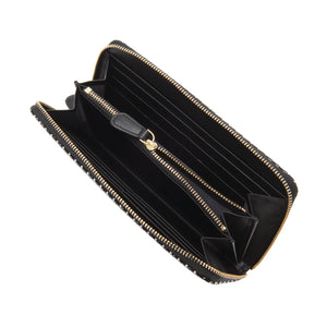 INDEN ZIPPED LONG WALLET Black x White Rippleal