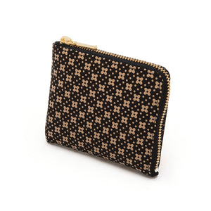 INDEN ZIPPED COIN PURSE B x I Flower Lattice