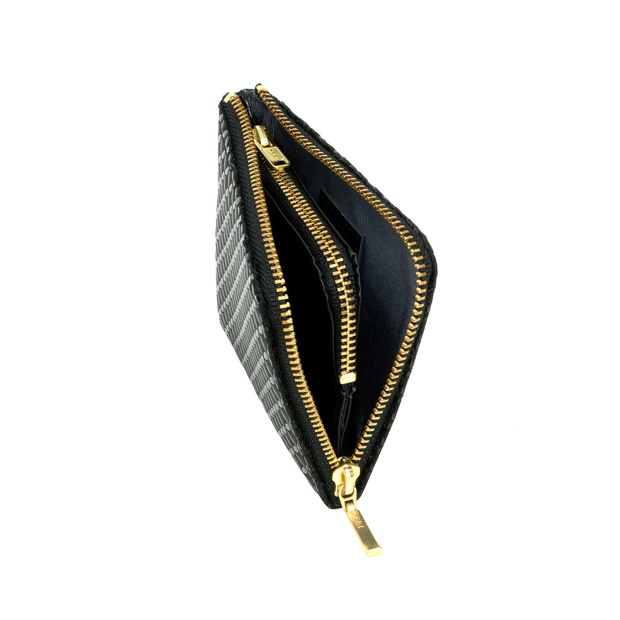 INDEN ZIPPED COIN PURSE Black x Black Seven Treasures