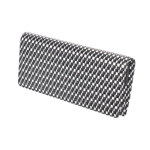 INDEN LONG WALLET Black x White Rippleal