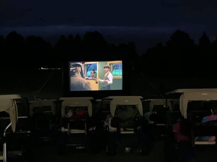 Create outdoor movie magic at municipal golf course