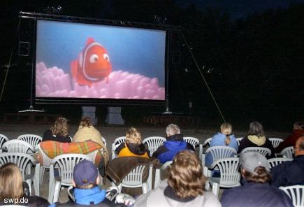 Open Air Kino in Metzingen, Germany
