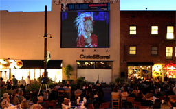 Outdoor Movies in downtown Old Pasadena, California