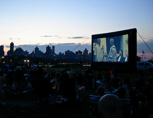 Outdoor Movies at Socrates Park in Long Island City, Queens, New York
