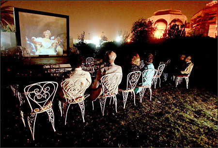 Outdoor Movies in Baghdad, Iraq