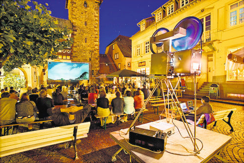 Open Air Kino in Zell am Harmersbach, Germany