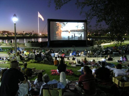 US Military Using Open Air Cinema Screens