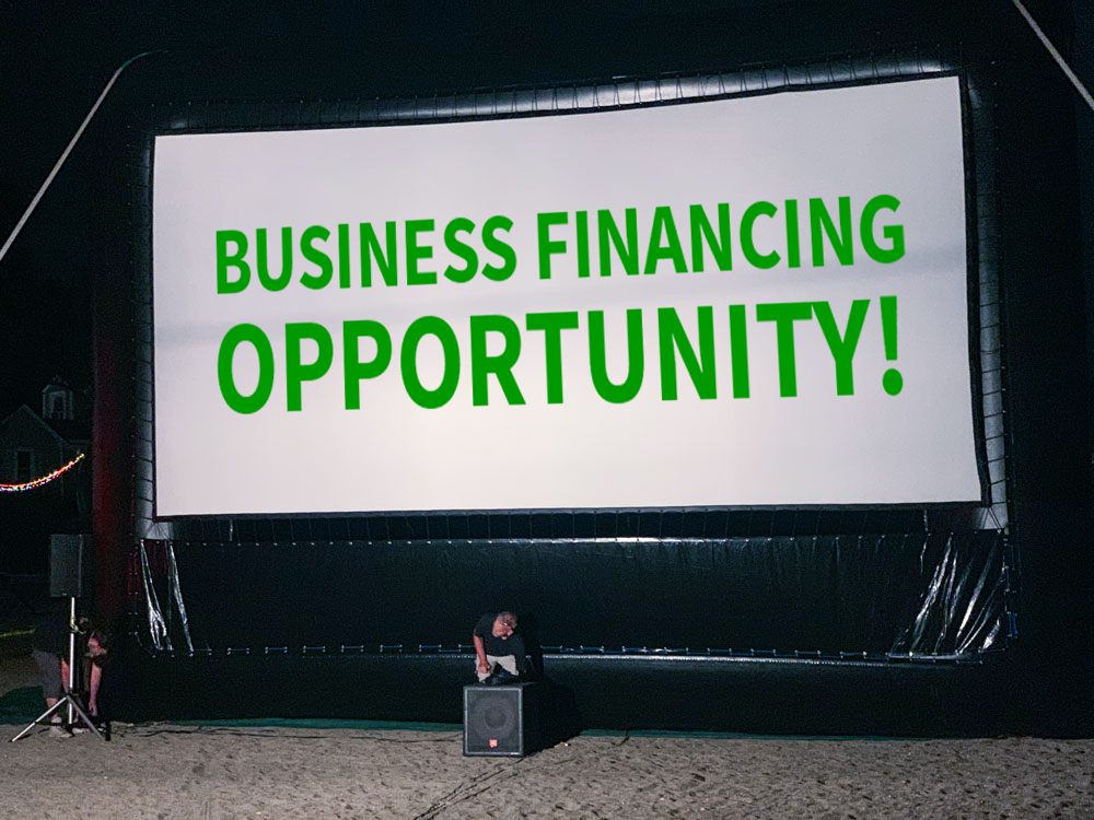 Business financing for Open Air Cinema clients