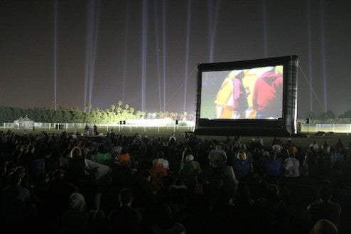 outdoor movies music festival
