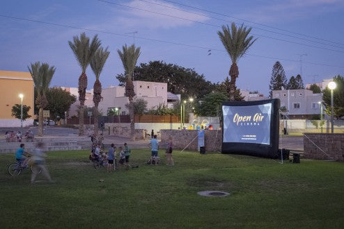 Open Air Cinema 16' Home System entartains audience at an Amphitheater in Ashkelon, Israel