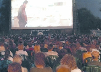 Open Air Kino in Regensburg, Germany