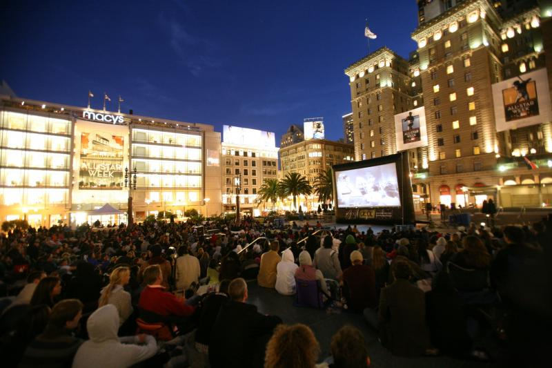Outdoor Movies on an Inflatable Screen in San Fransisco, California
