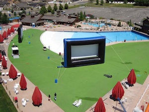 Waterpark Outdoor Movie