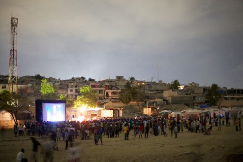 Haiti outdoor movies