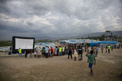 outdoor movies haiti