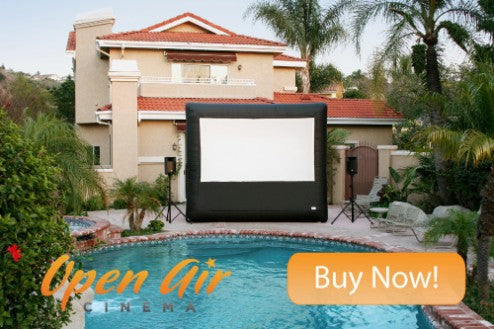outdoor movies by the pool