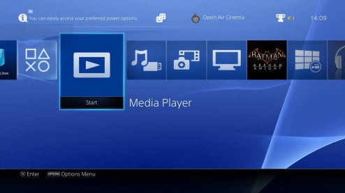 PlayStation 4. Playing USB Media