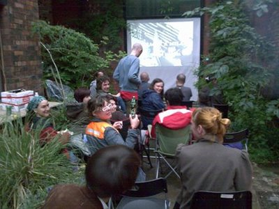 Outdoor Movies at the Islington Mill Art Academy, United Kingdom
