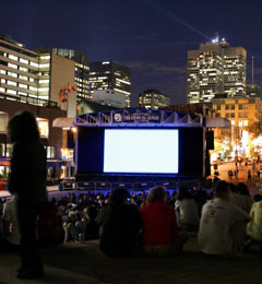 Outdoor Movies at the Montreal World Film Festival, Canada