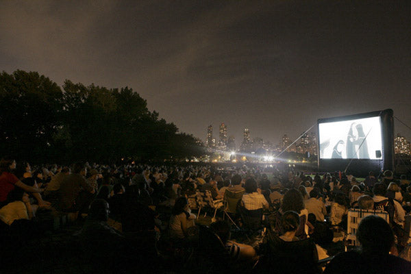 Outdoor Movies at the Socrates Sculpture Park