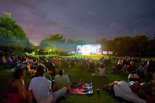 Outdoor Movies at the Coffs Harbour Open Air Cinema, Australia
