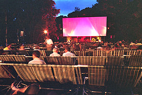 Outdoor Movies at the Deckchair Cinema in Darwin Harbor, Australia