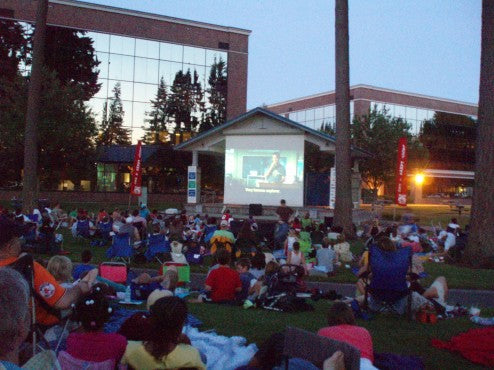 Outdoor Movie Fun in Lacey, Washington