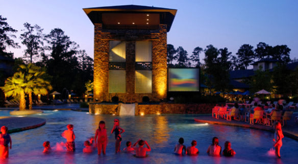Dive In Outdoor Movies at the Woodlands, Texas