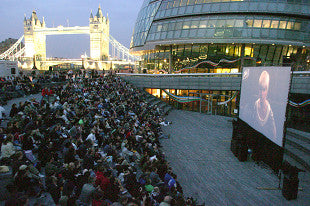 Open Air Cinema on the Thames in London, England