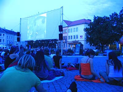 Outdoor Movie Screening of The Fountain in Prague, Czech Republic