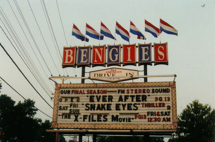 Outdoor Movies at Bengie's Drive-In, Baltimore, Maryland