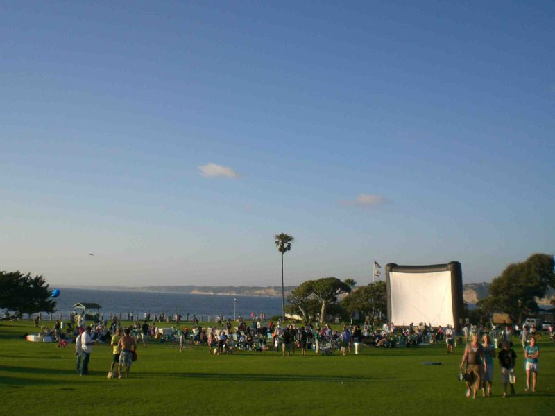 Outdoor movies have traditionally been a big hit in La Jolla. Photo Credit: La Jolla Light.