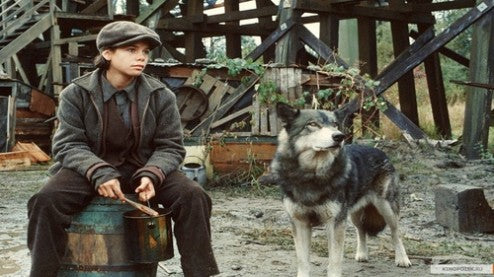 Meredith Salenger has a pet wolf in